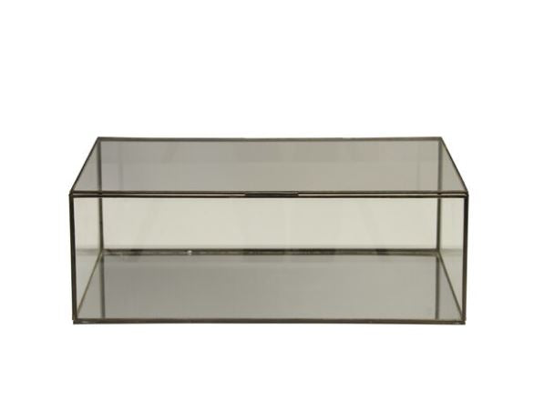 Rectangular Clear Glass Decorative Box by Worlds Away | Fig Linens and Home