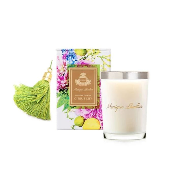 Agraria Monique Lhuillier Citrus Lily Candle & TasselAire - Fig Linens