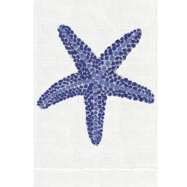 Blue Starfish Linen Guest Towels  | Fig Linens and Home