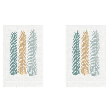Palm Kelp Linen Guest Towels (Set of 2) | Fig Linens and Home