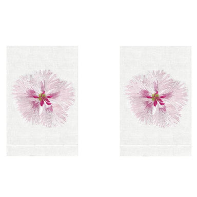 Pink Dianthus Linen Guest Towels (Set of 2) | Fig Linens and Home