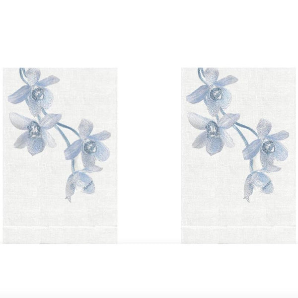 Quartz Sunset Orchid Linen Guest Towels (Set of 2) | Fig Linens