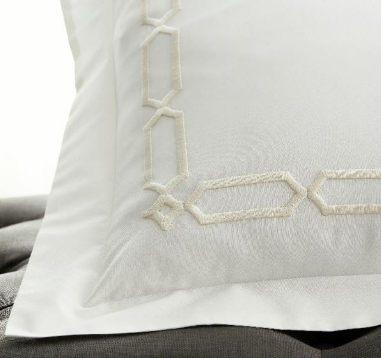 Arezzo White and Ivory Bedding Collection by Scandia Home | Fig Linens
