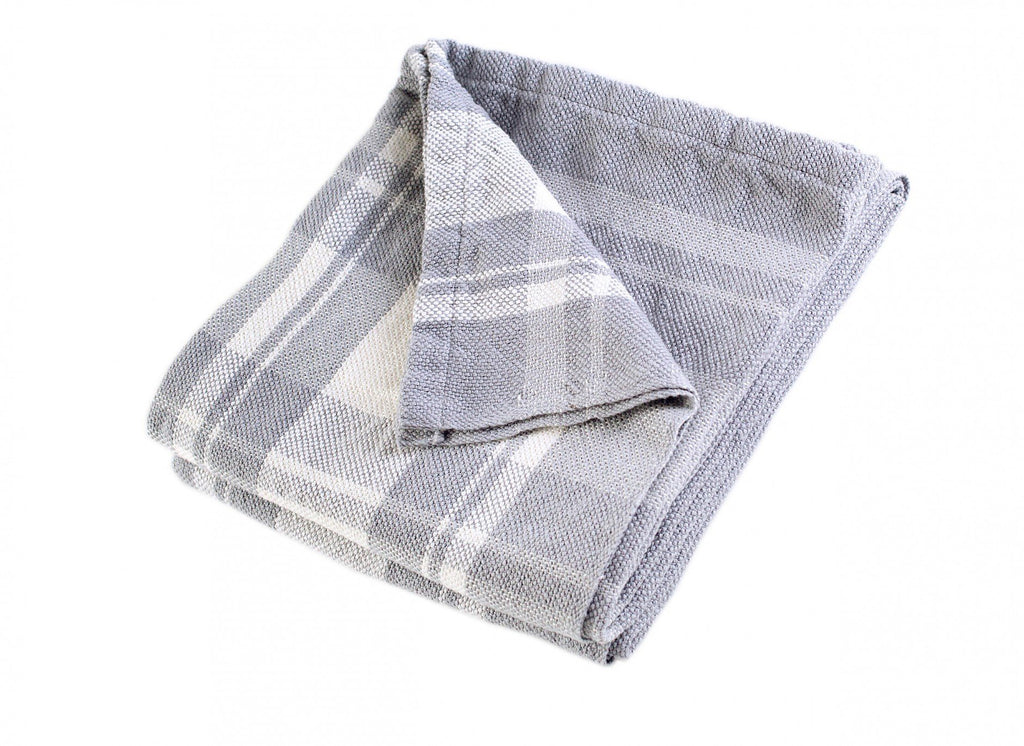 Bailey Dove Gray Day Blanket by Brahms Mount | Fig Linens