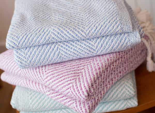 Newfield Herringbone Throws by Brhams Mount | Fig Linens