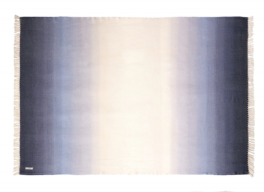 Palermo Indigo Ombre Throw - Shop Brahms Mount at Fig Linens