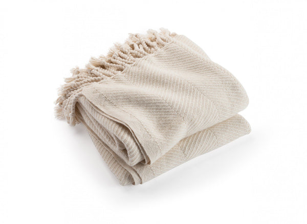 Islesboro Natural Alpaca Blend Throw | Fig Linens and Home