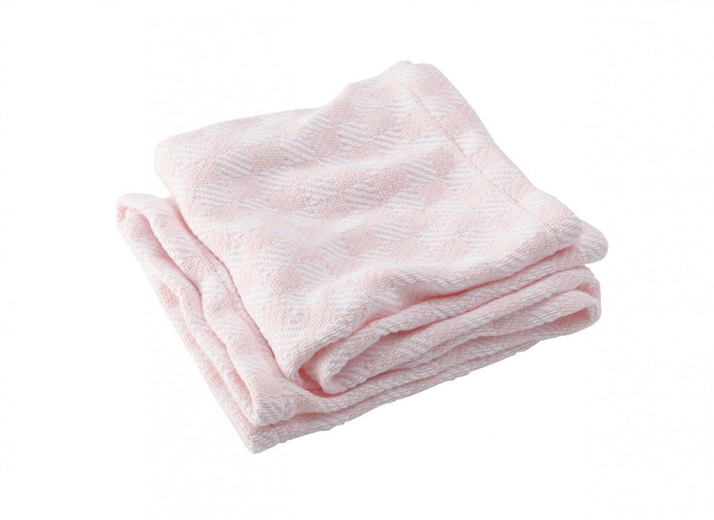 Pogonia Pale Pink Baby Blanket by Brahms Mount | Fig Linens
