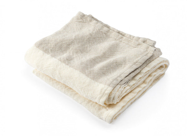 Caribou Pearl & Natural Linen Bath Towels by Brahms Mount | Fig Linens