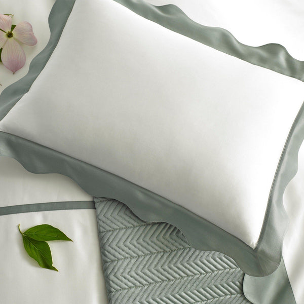 Carolina Celadon Bedding Collection by Matouk | Fig Linens and Home