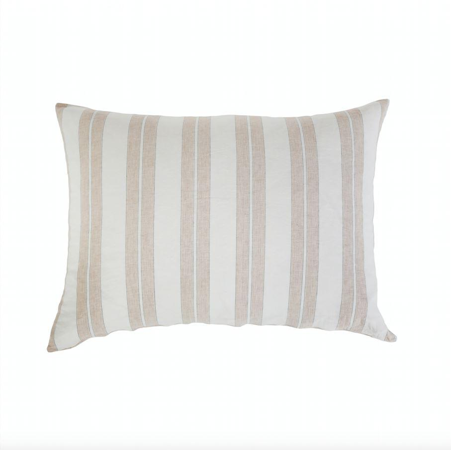 Carter Ivory and Amber Big Pillow by Pom Pom at Home | Fig Linens