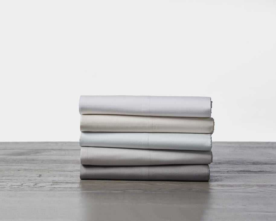 Coyuchi Alpine White 300 TC Organic Sateen Sheeting - All colors | Fig Linens