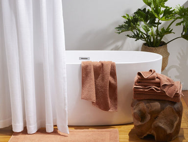Fig Linens - Coyuchi Organic Bath Towels - Dusty Coral