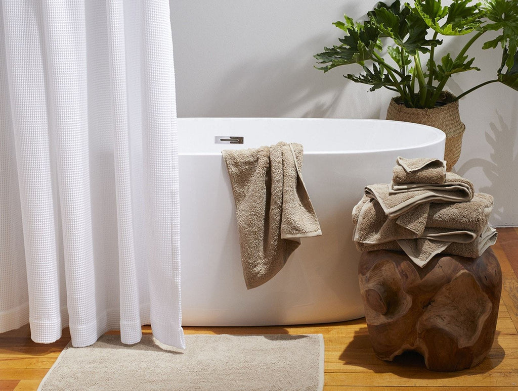 Fig Linens - Coyuchi Organic Taupe Bath Towels - Cloud Loom