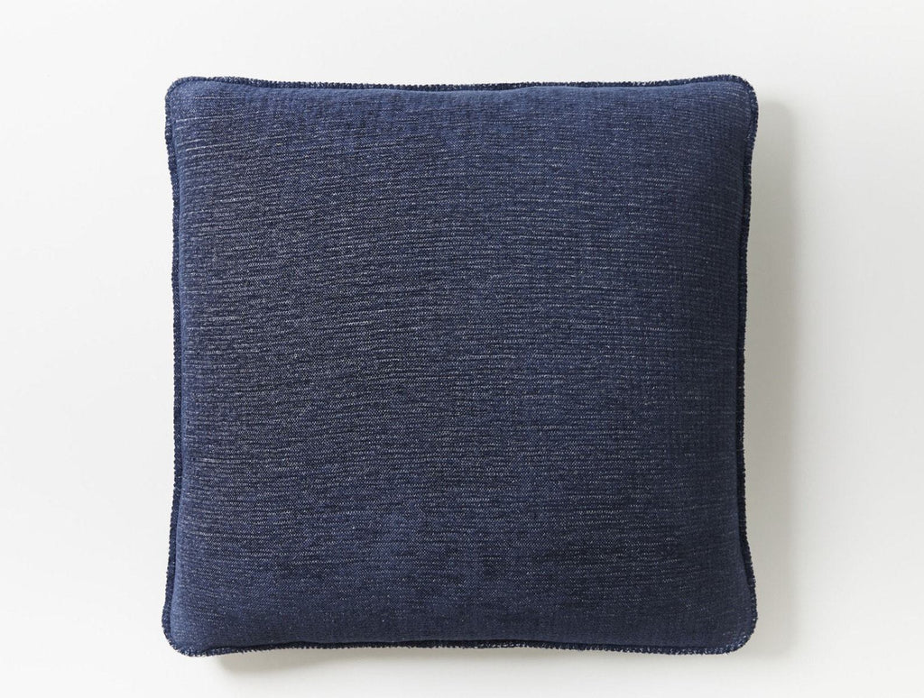 Fig Linens - Coyuchi Cozy Cotton Organic Pillow cover in Moonlight Blue