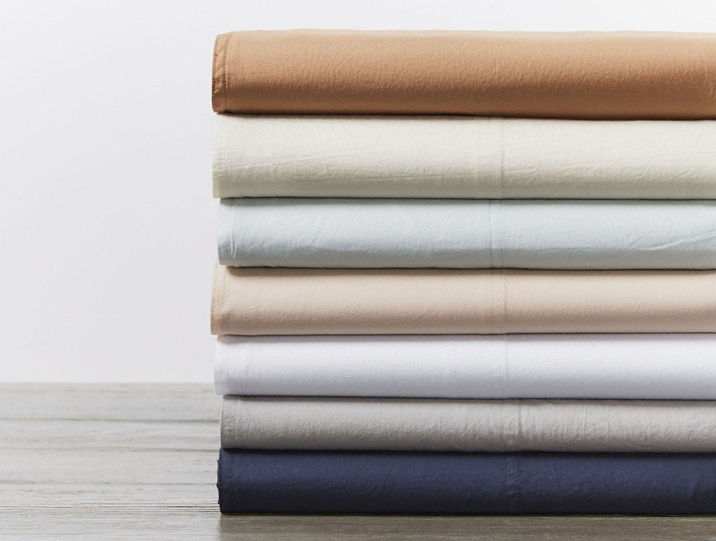 Organic Crinkled Percale Sheet Sets by Coyuchi | Fig Linens