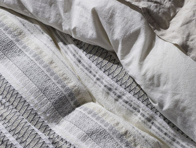 Fig Linens - Coyuchi Organic Bedding - Lost Coast White and Graphite Bedding