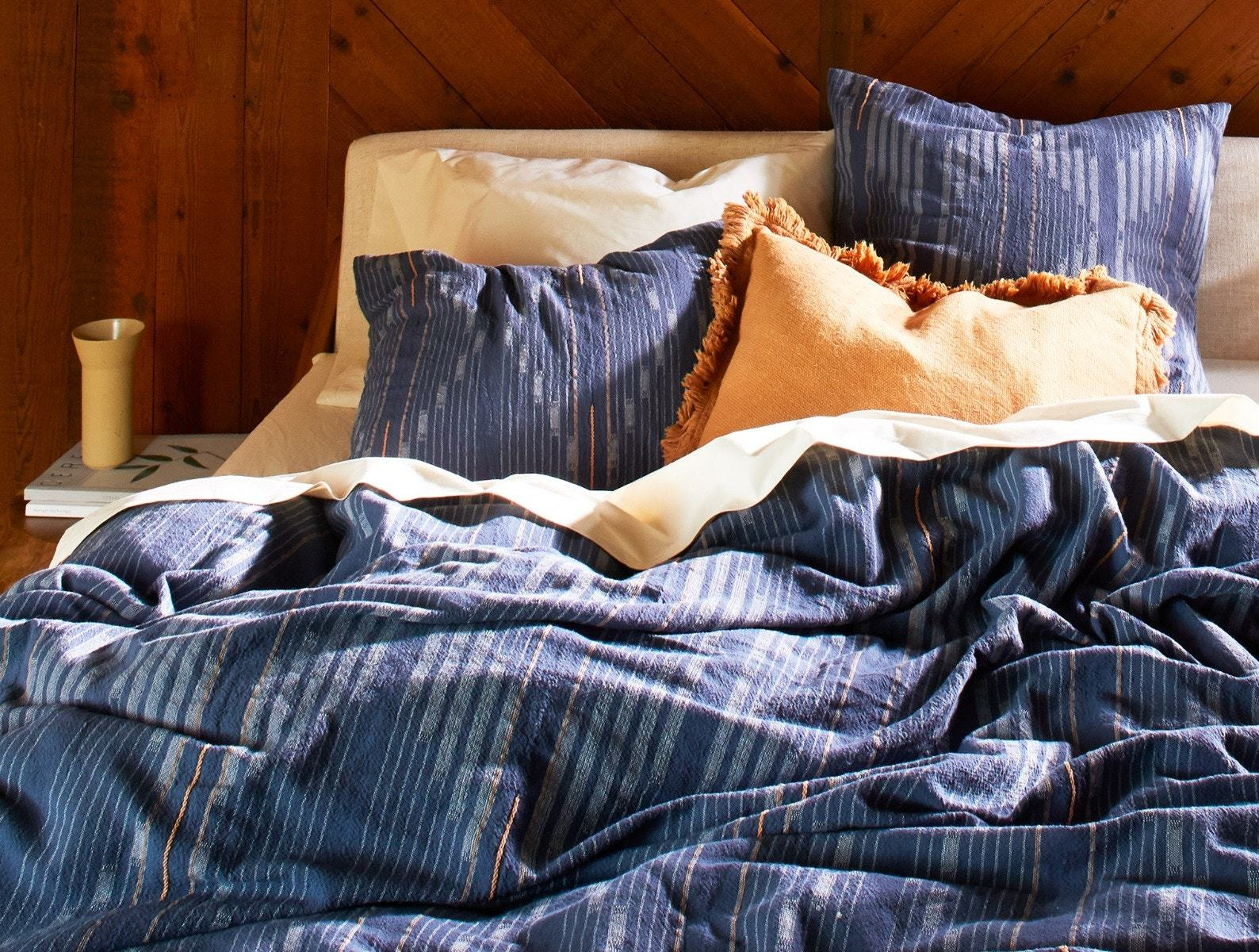 Morelia Moonlight Blue Organic Bedding by Coyuchi | Fig Linens