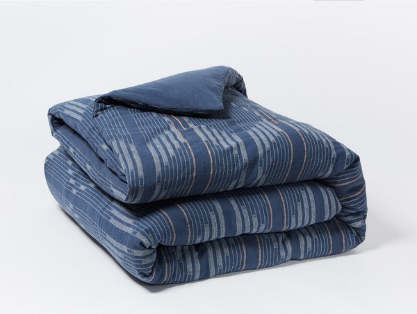 Fig Linens - Coyuchi Organic Bedding - Morelia Moonlight Blue Duvet