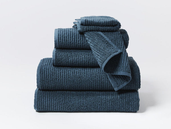 Temescal Deep Ocean Organic Bath Towels by Coyuchi | Fig Linens