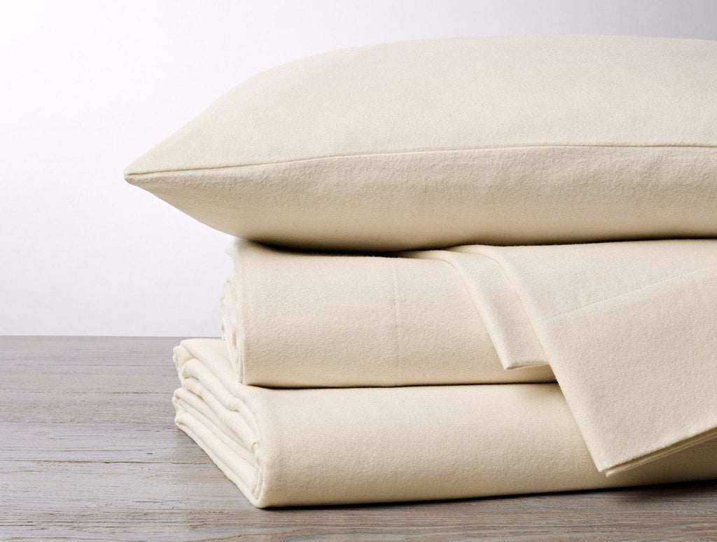 Fig Linens - Cloud Brushed Undyed Organic Cotton Flannel Sheet Sets by Coyuchi