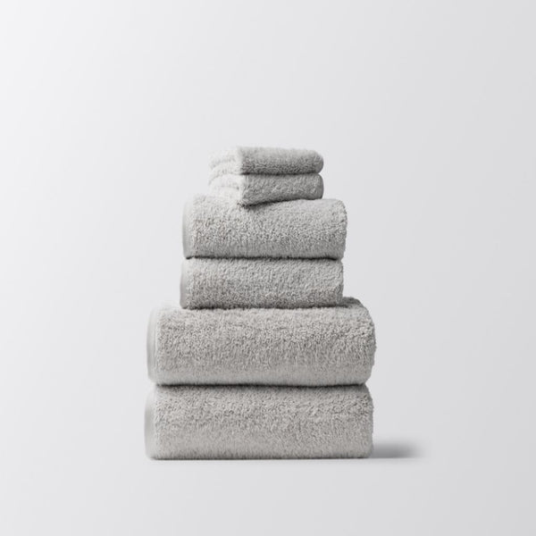 Cloud Loom Fog Organic Bath Towels by Coyuchi | Fig Linens