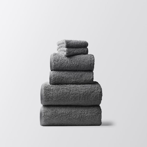Cloud Loom Slate Organic Bath Linens by Coyuchi | Fig Linens