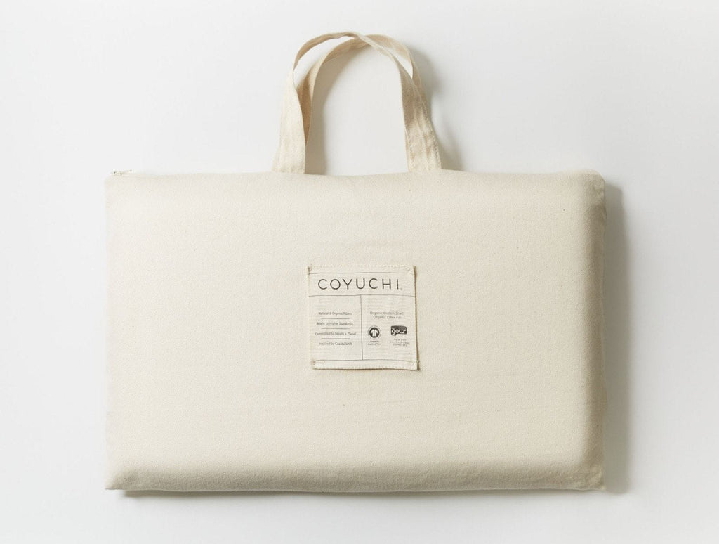 Fig Linens - Coyuchi Organic Latex Sleeping Pillows in packaging