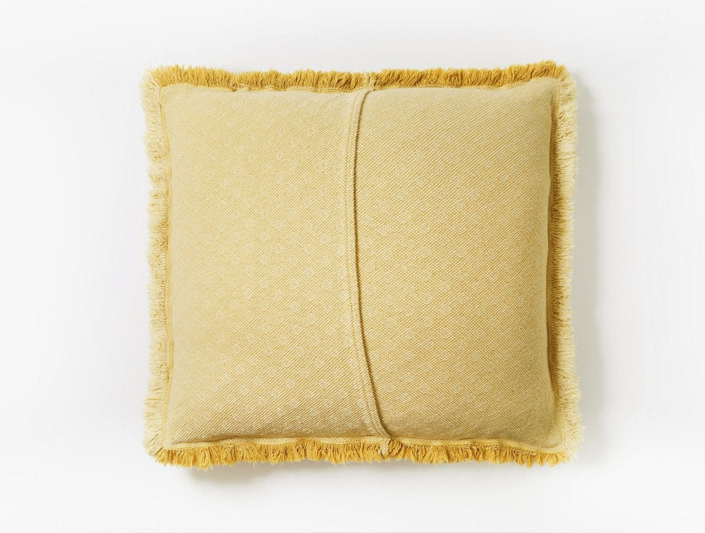 Loreto Straw Yellow Organic Decorative Pillow by Coyuchi | Fig Linens