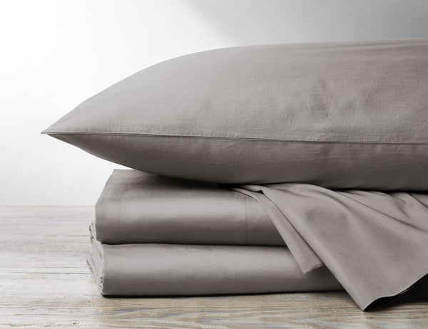 300 TC Organic Sateen Pale Gray Bedding by Coyuchi  - Fig Linens