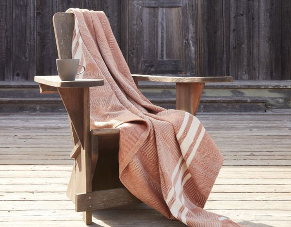 Cirrus Spice Organic Cotton Throw by Coyuchi | Fig Linens