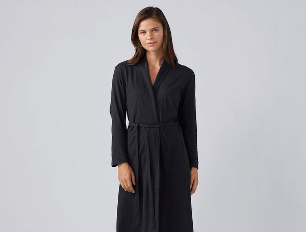 Solstice Deep Graphite Organic Robe by Coyuchi | Fig Linens