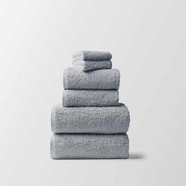 Coyuchi Cloud Loom Palest Ocean Organic Bath Towels | Fig Linens