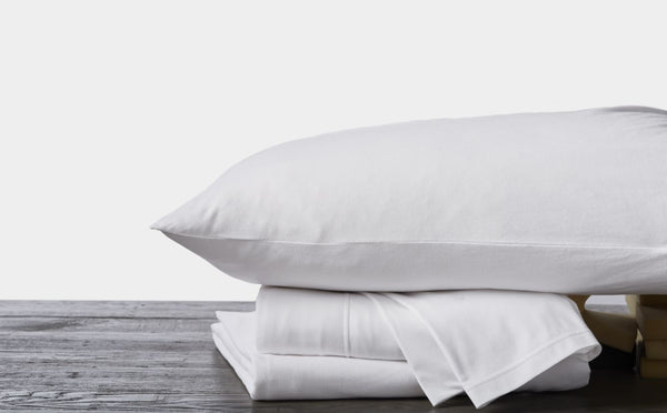 White t-shirt jersey duvet covers and shams by coyuchi - Fig Linens