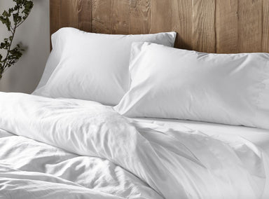 Coyuchi 300 TC Organic Sateen White Bedding | Fig Linens