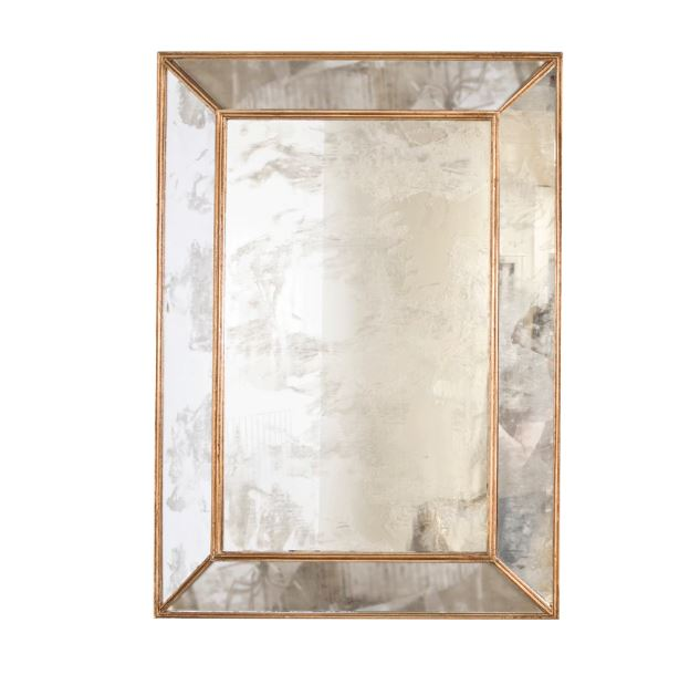 Dion Antique & Gold Leaf Mirror by Worlds Away