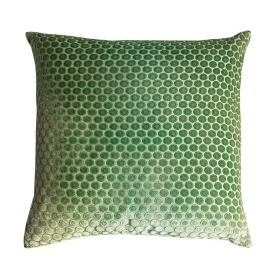 fig linens - kevin o'brien studio dots pillow in grass