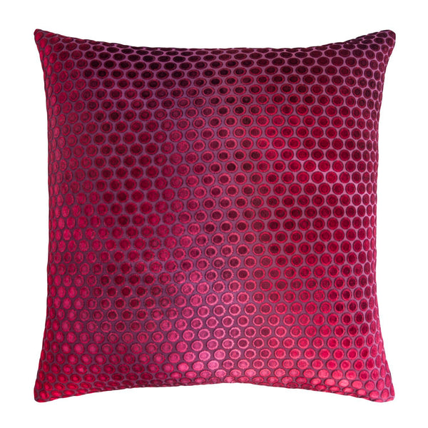 Dots Raspberry Velvet Pillows by Kevin O'Brien Studio | Fig Linens