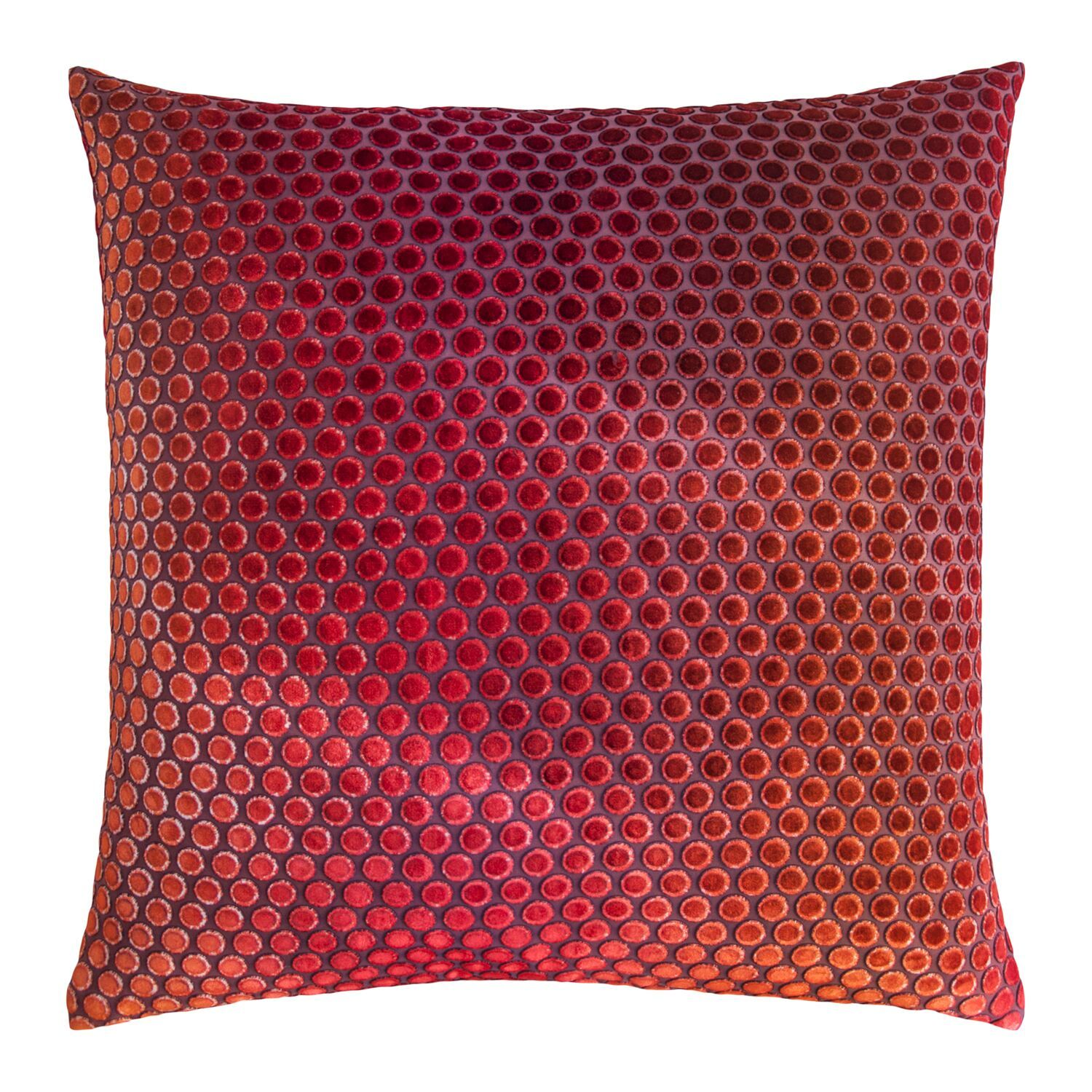 Dots Wildberry Velvet Pillows by Kevin O'Brien Studio | Fig Linens