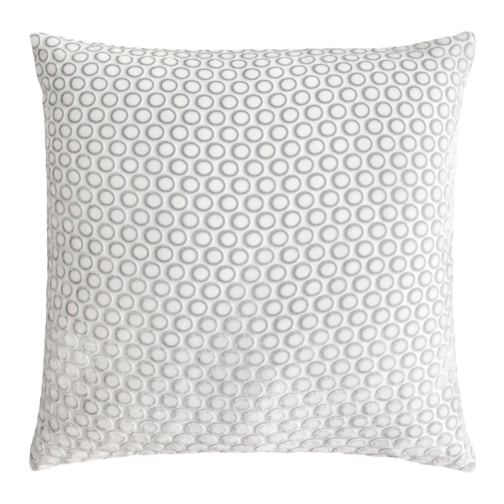 Dots White Velvet Pillows by Kevin O'Brien Studio | Fig Linens