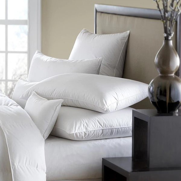 Fig Linens - Mackenza Down/Feather Hypoallergenic Pillow by Downright