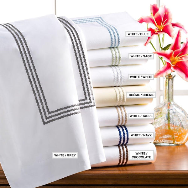 Windsor Embroidered Sheet Sets by Downright | Fig Linens and Home