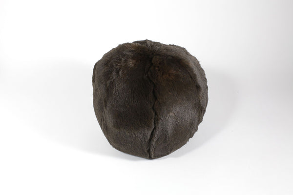 fig linens evelyne prelonge chocolate faux fur snowball