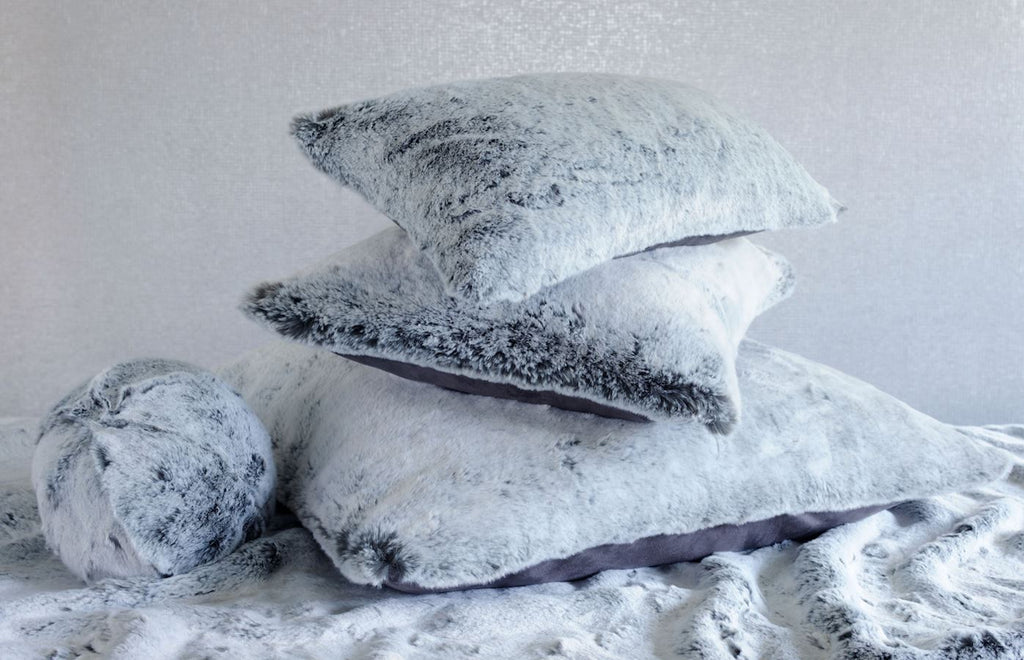 Glacier Faux Fur Pillow by Evelyne Prélonge | Fig Linens and Home