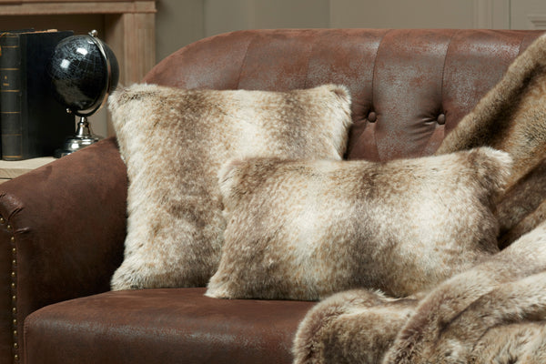 Monaco Faux Fur Pillow by Evelyne Prélonge | Fig Linens and Home