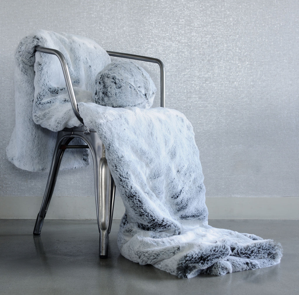 Glacier Faux Fur Throw by Evelyne Prélonge | Fig Linens and Home