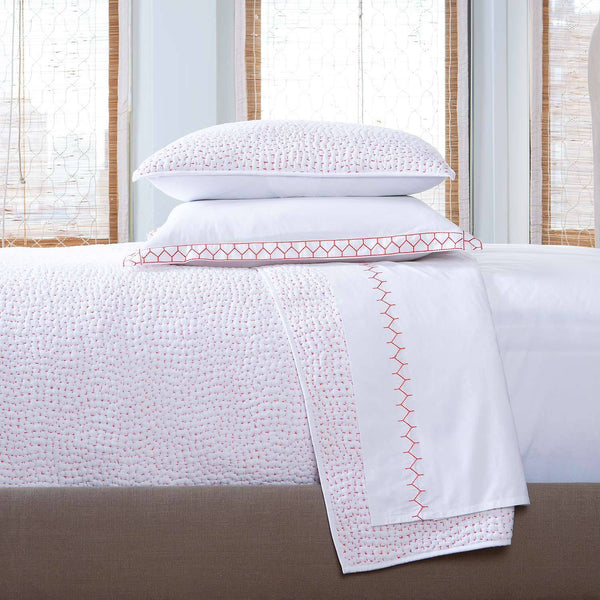 Hand Stitched Lotus Coverlets & Shams by John Robshaw | Fig Linens