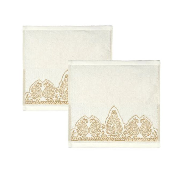 John Robshaw Nadir Pearl Washcloth Set | Fig Linens and Home