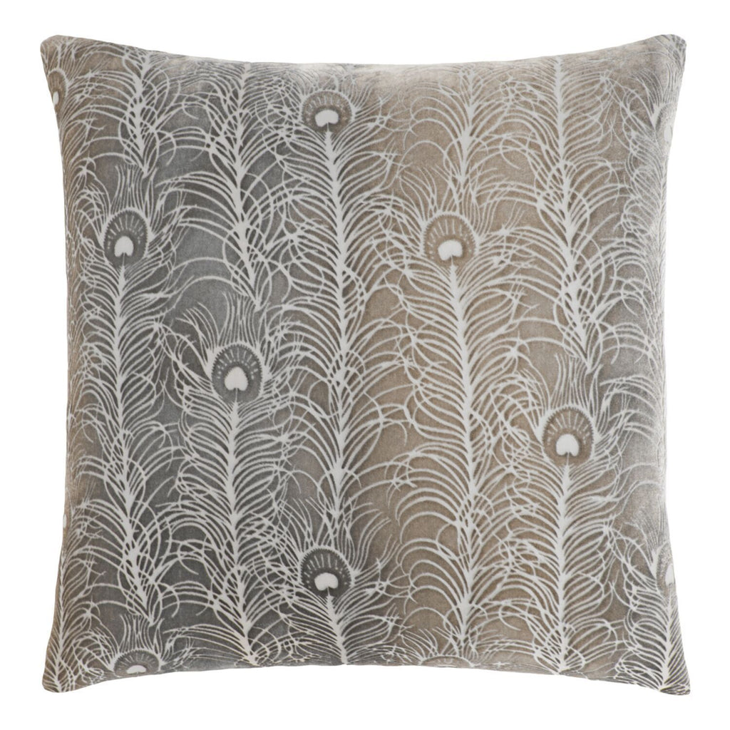 Fig Linens - Coyote Peacock Feather Decorative Pillow by Kevin O'Brien Studio