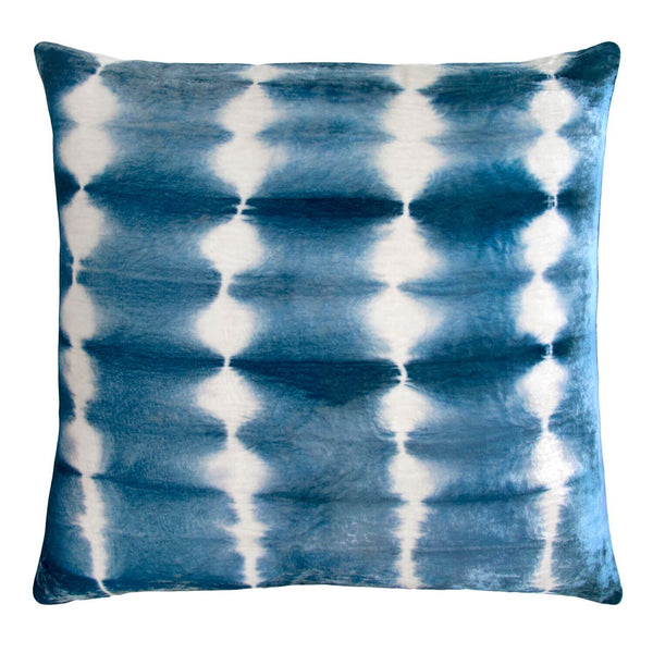 Azul Rorschach Velvet Pillow by Kevin O'Brien Studio | Fig Linens